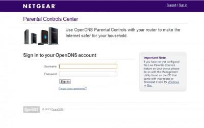 OpenDNS Parental Controls
