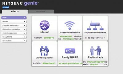 Netgear R6300v2 Dashboard
