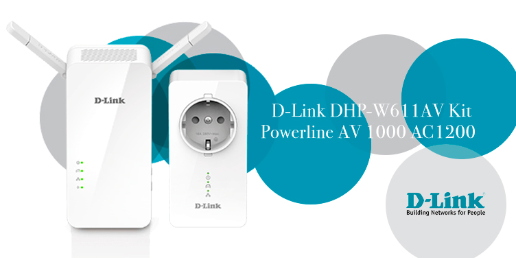 Kit PLC Powerline con Extensor WiFi de D-Link
