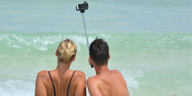 palo selfie playa