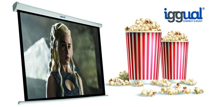pantalla de proyección cine en casa