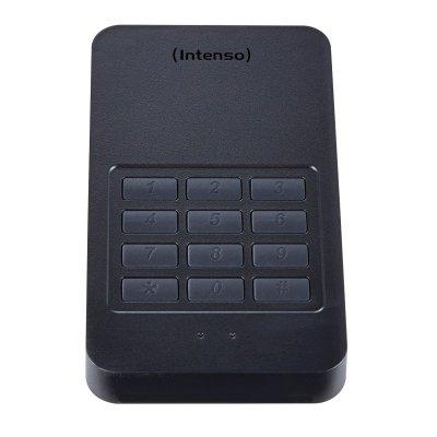 disco duro externo portátil con código de seguridad