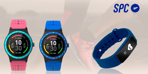 smartwatch y pulsera de actividad de la marca SPC